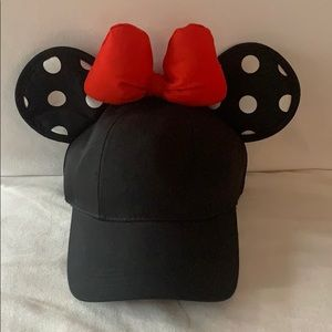 Disney Minnie Mouse Polka Dot Ears Bow Hat
